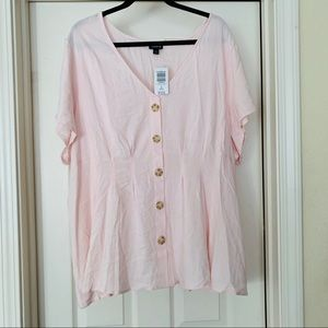 TORRID SIZE 3 Fit N Flare Pink Blouse